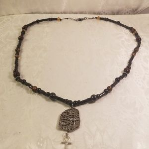 Men Ancient Egyptian Eye of Ra necklace
